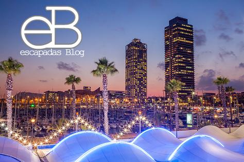 Hotel Arts y Torre Mapfre en el Port Olimpic de Barcelona