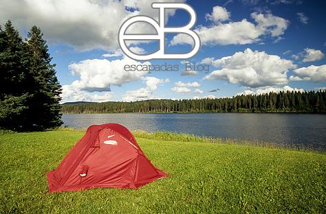 Durmiendo en un parque natural en Gaspèsie en Canada